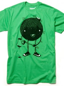 Picture of green T-shirt with graphic print