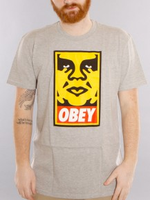 Picture of grey T-shirt with the OBEY logo