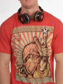 Picture of red T-shirt with graphic print