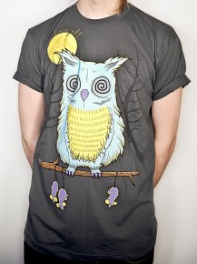 Picture of grey T-shirt with graphic print