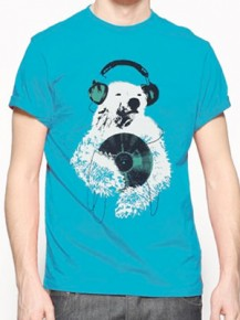 Picture of blue T-shirt with graphic print