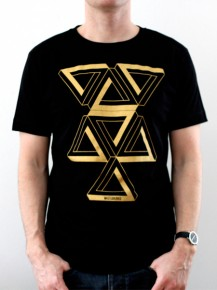 Picture of black T-shirt with graphic print