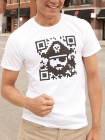 Picture of white T-shirt with graphic print